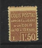 """FR Colis Postaux YT 50 """" Apport à La Gare 1F50  Brun """" 1926 Neuf* - Paketmarken"""