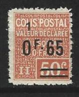 """FR Colis Postaux YT 61 """" Valeur Déclarée 65c S. 50c. (1) Rouge """" 1926 Neuf* - Paketmarken"""