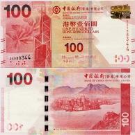 HONG KONG - BoC         100 Dollars        P-343d       1.1.2014       UNC - Hongkong