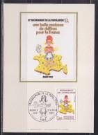 = Recensement De La Population Carte 1er Jour Paris 27.2.82 N°2202 Une Belle Moisson De Chiffres - 1980-89