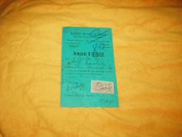 CARTE DEMANDE N°11983 DE 1909. / SOCIETE DU GAZ DE PARIS. / TIMBRE QUITTANCE - France