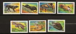 Madagascar 1994 n� 1352 / 8 ** Animaux f�roces, Panth�re, Martre, Renard, Bonheur, Loup, Fennec, Sahara, Lion, Once