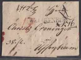Brief Gelaufen Von Weissenburg Nach Uffenheim Am 17.4.1843 - Deutschland