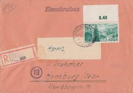 Baden R-Brief EF Minr.12 OR Maulbronn1.3.48 - Französische Zone