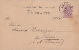 DR Ganzsache Nachv. Stempel Gaggenau 17.1.1877 !!!!!!!!!!!!!! - Deutschland