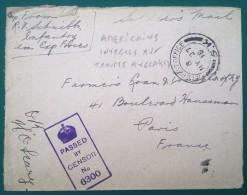 Petite Env 1918 Oblit Field Post Office 5.K Bureau De La POSTE MILITAIRE BRITANNIQUE Pour Les SOLDATS U.S. En FRANCE - WW I