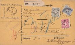 DR Paketkarte Mif Minr.41,42,44 Dornach 30.8.83 Gel. In Schweiz - Deutschland