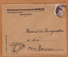 Enveloppe Brief Cover Administration Communale De Namêche - Unclassified