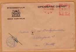 Enveloppe Brief Cover Stadsbestuur Kortrijk - Unclassified