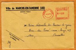 Enveloppe Brief Cover Ville De Marche-en-Famenne - Unclassified