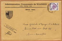 Enveloppe Brief Cover Administration Communale De Wasmes - Unclassified