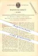 Original Patent - A. De Meuron & Cuénod In Genf , 1886 , Elektrischer Lichtbogen - Regulator , Lampe , Lampen , Licht !! - Documents Historiques