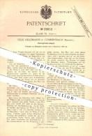 Original Patent - Felix Hellemanns In Gummerbach , 1886 , Vorspinnkrempel , Spinnen , Spinnerei , Krempel !! - Historische Dokumente