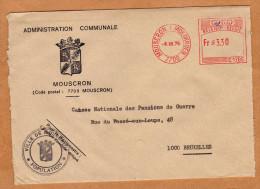 Enveloppe Brief Cover Administration Communale De Mouscron - België