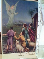 ILLUSTRATA BUON NATALE  ANGELO ANNUNCIA AI PASTORI   VB1968    EV851 - Natale