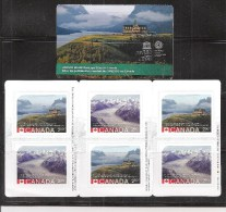 CANADA 2015, #2849a, UNESCO   World Heritage Sites 2nd  Issue Of Commemorative Stamps  INTERNATIONAL RATE - Carnets Complets