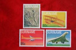 Surinam / Suriname 1978 vliegtuig airplane flugzeug avion concorde (ZBL 152-155 Mi 849-852 SG 942)  POSTFRIS / MNH / **
