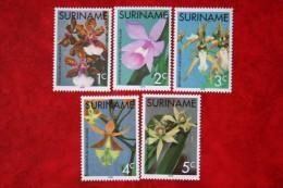 Surinam / Suriname 1976 Bloemen Orchids Orchidee Flower fleurs blu (ZBL 12-16 Mi 710-714 SG 809-813) POSTFRIS / MNH / **