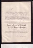 SINT-MICHIELS BRUGGE Baronne De HEERE De BEAUVOORDE Veuve KERVYN De LETTENHOVE 1784-1873 Doodsbrief - Décès