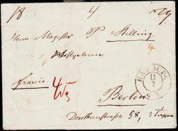 1845. KJÖBENHAVN 10 7 1845. + HAMBURG 11 7.  (Michel: ) - JF175526 - Danimarca