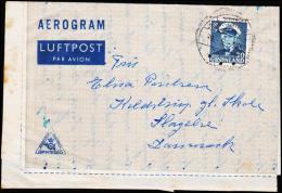 1953. Fr. IX. 30 Øre Dark Blue AEROGRAM SDR. STRØMFJORD 9.5. 195?.  (Michel: 33) - JF175515 - Groenlandia