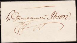 1813. KØBENHAVN 31.12.1813. Sender Holstein To Ibsen.  (Michel: ) - JF175525 - Danimarca