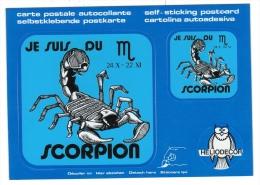 Thèmes / Astrologie / Horoscope /  Scorpion , Carte Moderne Neuve Autocollante - Astrology