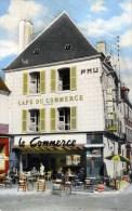 """36 LA CHATRE Place Du Marché Café Hôtel Du Commerce """"Chez Maurice"""" Cpsm Animée - La Chatre"""