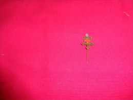 Insigne épinglette Métal Croix De Lorraine Croix Rouge. - Militaria