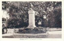 JALIGNY - Le Monument Aux Morts - Très Beau Plan Animé Colorisé - France