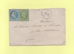 Champcenest - 73 - Seine Et Marne - 15 Dec 1871 - Marcophilie (Lettres)