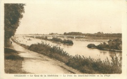 45 - ORLEANS - Le Quai De La Madeleine - Le Pont Du Maréchal-Joffre Et La Plage - Orleans