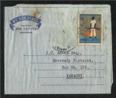 Jamhuri Zanzibar  Air Mail Postal Used Aerogramme Cover Zanzibar To Pakistan As Per Scan - Zanzibar (1963-1968)