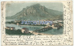 11750 ITALY LECCO LOMBARDIA VIEW PANORAMIC CUT YEAR 1899 CIRCULATED TO ARGENTINA POSTAL POSTCARD - Italia