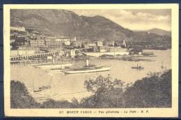 1922 MÓNACO , MONTECARLO , VISTA GENERAL , EL PUERTO , BARCOS , CIRCULADA. - Monte-Carlo