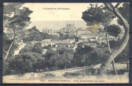 1909 MÓNACO , MONTECARLO , VISTA ENTRE LOS PINOS , CIRCULADA. - Monte-Carlo