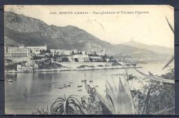 1909 MÓNACO , MONTECARLO , VISTA GENERAL Y TIRO AL PICHÓN , CIRCULADA. - Monte-Carlo