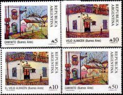 ARGENTINE / ARGENTINA - SERIE COURANTE 1988-89 (4) Chemin De Fer, Musique, Tango - Argentine