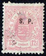 1878   Surcharge «S.P.»  Sur 12½  Cent Rose    Impression De Haarlem Oblitéré  Petit Aminci - Service