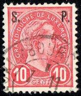 1895  Adolphe De Profil 10 Cent Surchargé «S.   P.» Oblitéré - Service