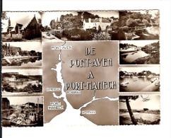 RARE / 29 DE PONT-AVEN à PORT MANECH CPSM GF Noire JACK N° 10.066  Multivues - 10 Mini - Voyagée / TBE - Pont Aven