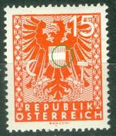 Autriche  ANK  721 PF I   * *  TB      Voir Scan - Varietà & Curiosità