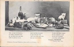 """Les Chats"""" Félins  Qu´aimait Tant Baudelaire """" D´après Fernand Poitevin  Le Crotoy 1904 - Philosophie & Pensées"""