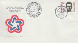 Enveloppe  1er   Jour    VENEZUELA    Bicentenaire  De  La   REVOLUTION     Américaine    1976 - Indépendance USA