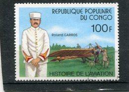 CONGO, PEOPLE´S REPUBLIC OF. 1977. SCOTT 423. ROLAND GARROS AND PLANE - Congo - Brazzaville