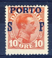 ##K1343. Denmark 1921. Postage Due. Michel 8. MH(*) - Portomarken