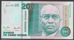 CABO VERDE (CAPE VERDE) :  200 Escudos - 1989 - UNC - Capo Verde