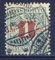 ##K1363. Denmark 1907. AVISPORTO. Michel 8X. Used(o). - Portomarken