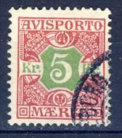 ##K1380. Denmark 1907. AVISPORTO. Michel 9X. Used(o). - Postage Due