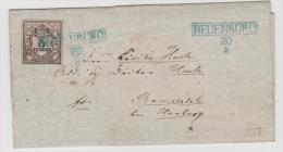 Old007/ Brief, Mi.Nr. 3 Vollrandig! Kastenstempel Neuenburg Mit Datum Aussen Vor.